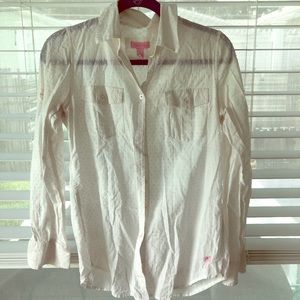 Lilly Pulitzer White Resort Wear shirt